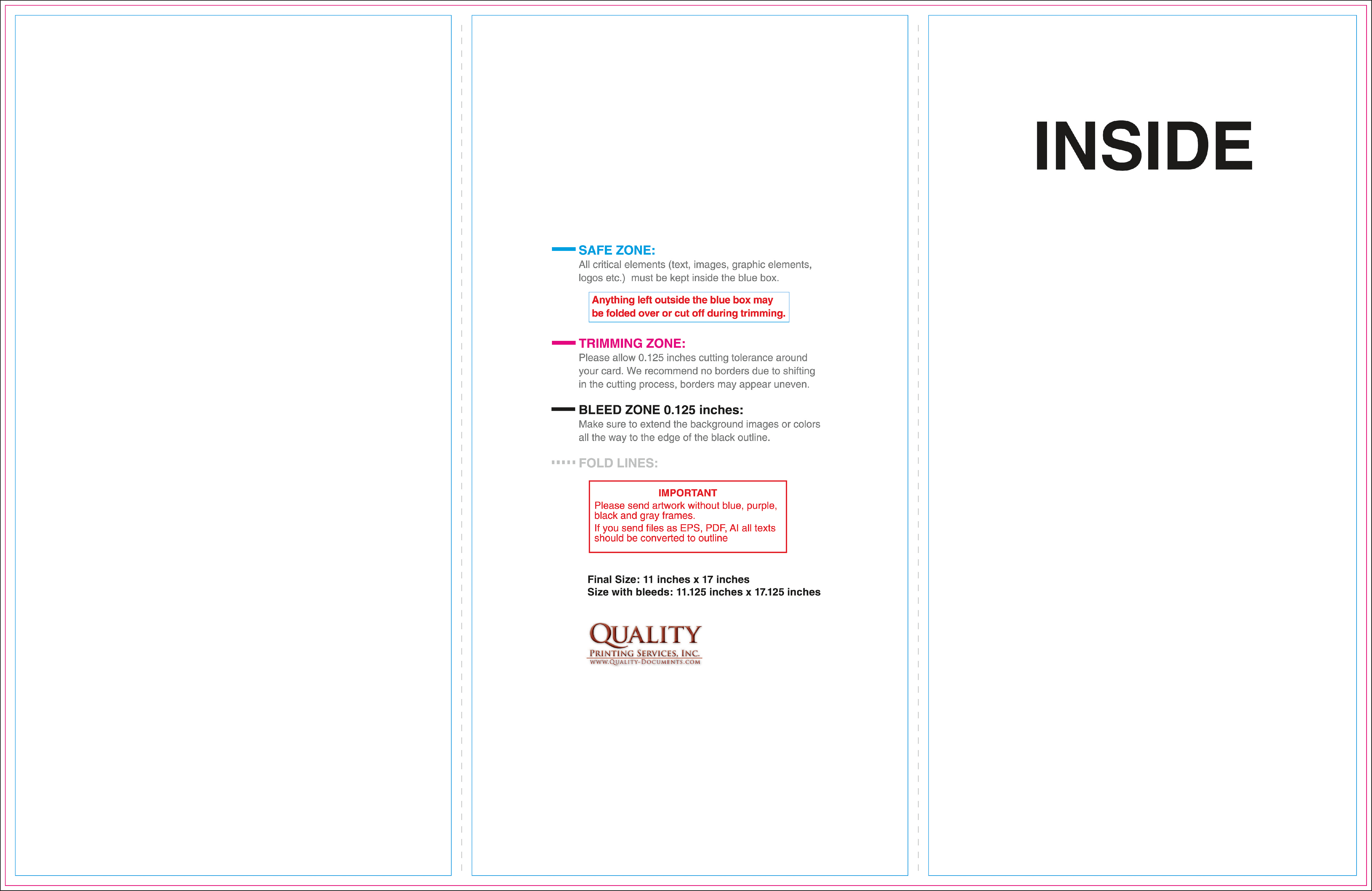11x17 brochure templates for 11x17 brochure template